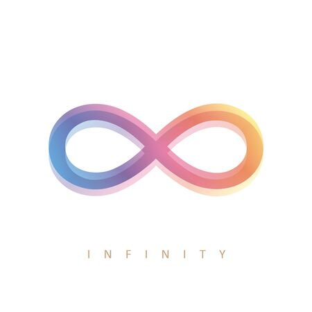 colorful infinity symbol on white background vector illustration