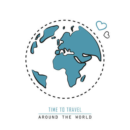 around the world earth icon isolated on white background vector illustration EPS10