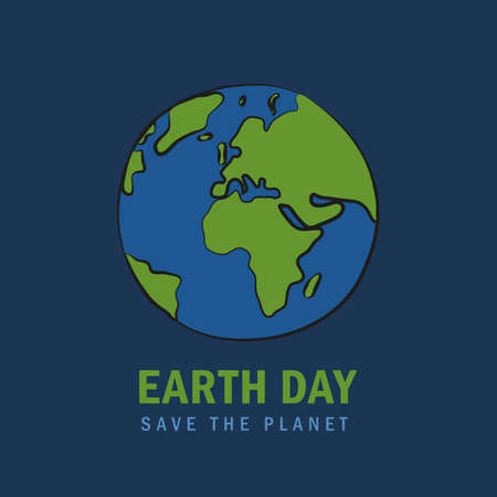 earth day save the planet concept vector illustration EPS10