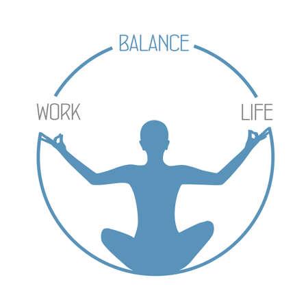 meditating person work life balance circle healthy lifestyle Banco de Imagens - 152323160