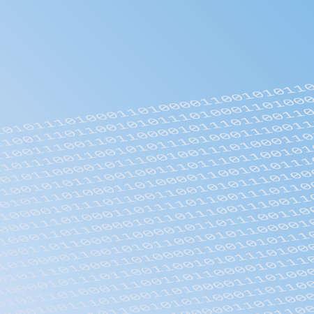 digital binary code blue background vector illustration EPS10