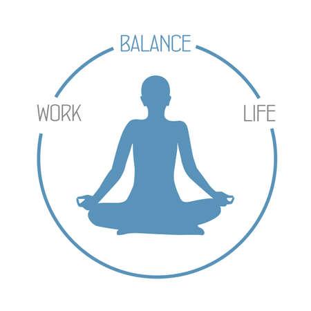 meditating person work life balance circle healthy lifestyle Banco de Imagens - 152323178
