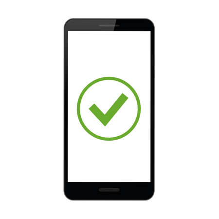 safety check in a smartphone vector illustration EPS10