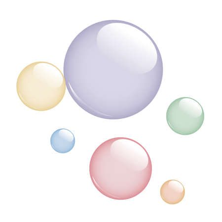 colorful soap bubbles isolated on white background vector illustration EPS10