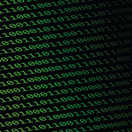 digital binary code on black background vector illustration EPS10