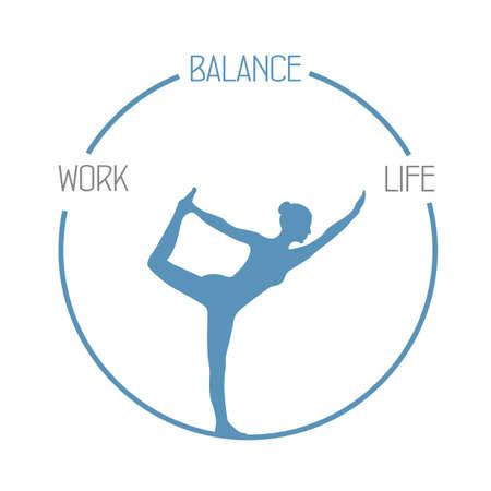 yoga girl work life balance circle healthy lifestyle
