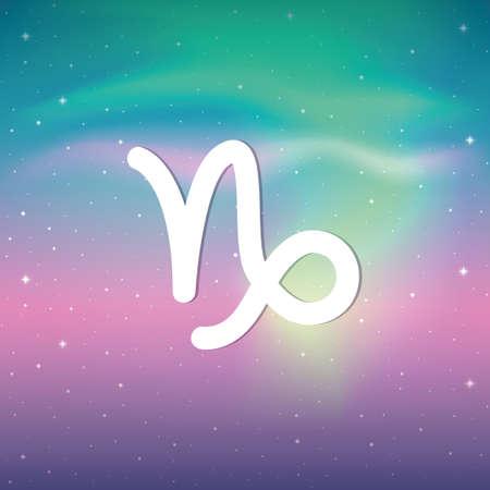 zodiac sign capricorn horoscope in colorful starry sky