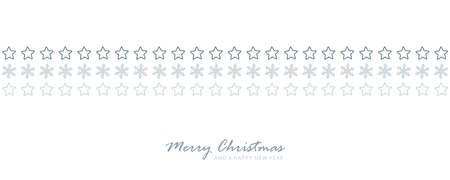 christmas card banner with star and snowflake pattern vector illustration EPS10
