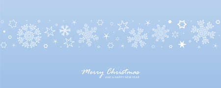 christmas card with snowflake border vector illustration EPS10 Stock Illustratie