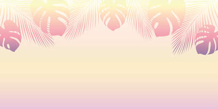 palm trees silhouette on a sunny day summer holiday design vector illustration EPS10 Stock Illustratie