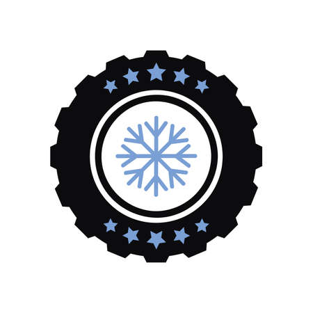 winter car tires five star service vector illustration EPS10