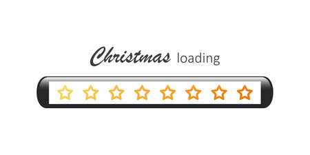 christmas loading bar with stars vector illustration EPS10