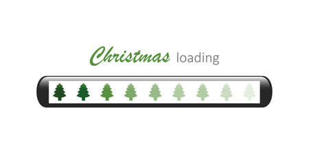 christmas loading bar with fir tree symbol vector illustration EPS10