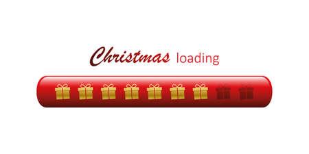 christmas loading bar with gift box symbol vector illustration EPS10