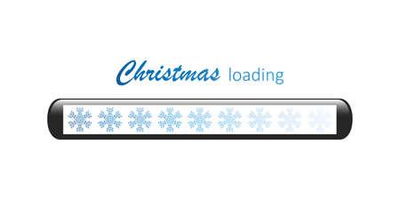 christmas loading bar with snowflake vector illustration EPS10