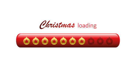 christmas loading bar with star bauble vector illustration EPS10 Ilustrace
