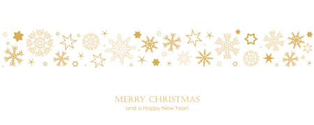 christmas card with white snowflakes vector illustration EPS10