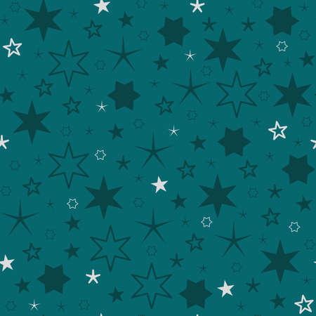 seamless pattern christmas star design vector illustration