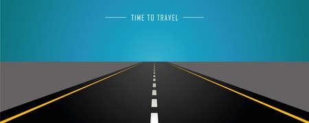 asphalt road time to travel background vector illustration EPS10 Ilustrace