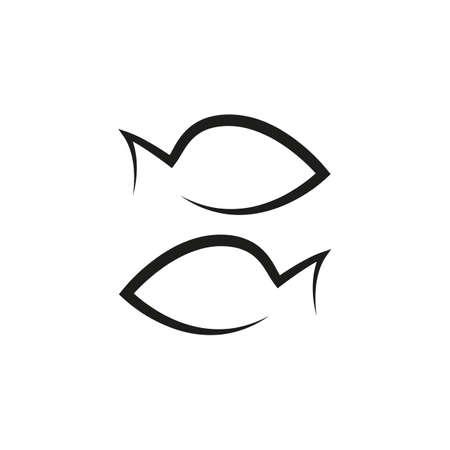 simple zodiac sign fish horoscope isolated vector illustration 일러스트