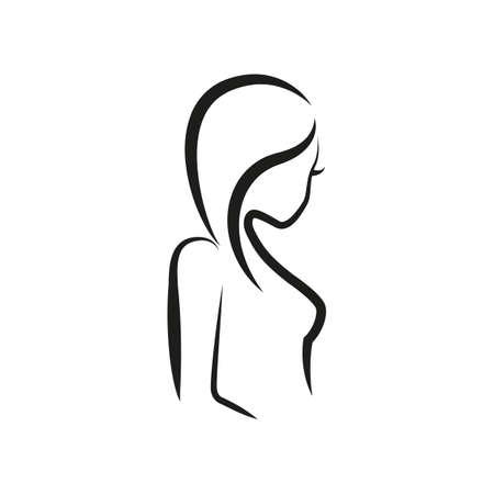 simple zodiac sign virgo horoscope isolated on white vector illustration 일러스트
