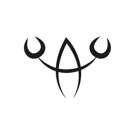 simple zodiac sign cancer horoscope isolated on white vector illustration 일러스트