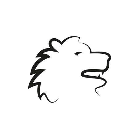 simple zodiac sign lion horoscope isolated on white vector illustration