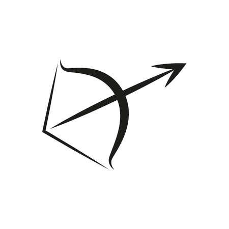 simple zodiac sign sagittarius horoscope isolated on white vector illustration