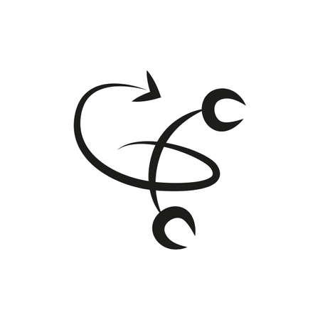 simple zodiac sign scorpion horoscope isolated on white vector illustration