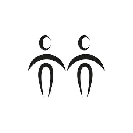 simple zodiac sign gemini horoscope isolated on white vector illustration
