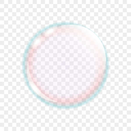 colorful transparent soap bubbles isolated vector illustration EPS10