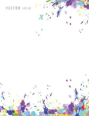 white background with colorful splash of colour vector illustration EPS10 일러스트