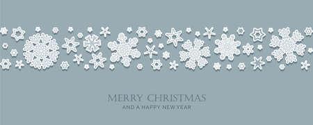 christmas card with snowflake border vector illustration EPS10 Ilustração