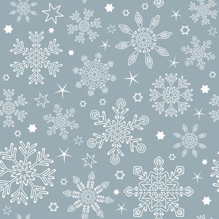 seamless pattern snowflake background vector illustration EPS10