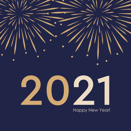 2021 new year firework background vector illustration EPS10