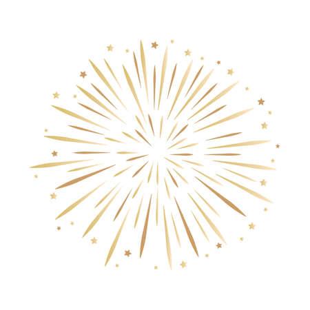 new year firework isolated on white vector illustration EPS10 Vector Illustration