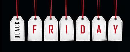 black friday promotion hanging label on abstract paper background vector illustration EPS10 向量圖像