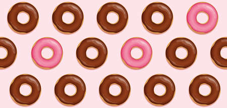 seamless tasty choco donut background vector illustration 일러스트