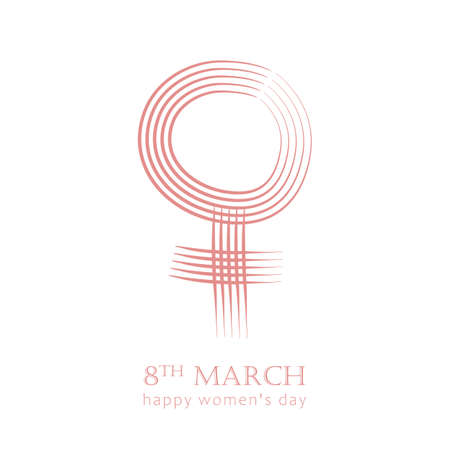 8th march international womans day female symbol vector illustration EPS10 Иллюстрация