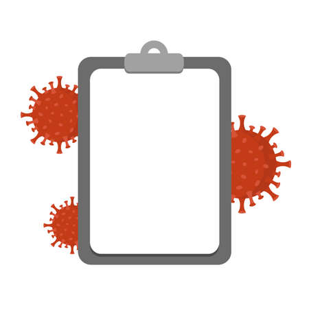 virus and clipboard icon vector illustration EPS10