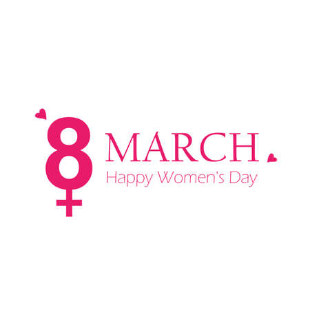 8th march international womens day typography vector illustration EPS10 일러스트