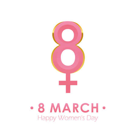8th march international womens day female abstract symbol vector illustration EPS10
