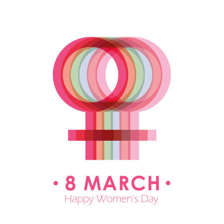 8th march international womans day colorful female symbol vector illustration EPS10 일러스트