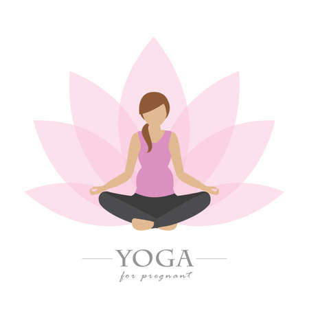 yoga for pregnant women colorful lotus flower