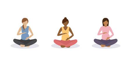 yoga for pregnant women healthy lifestyle set