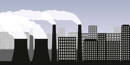air pollution industry smog in the city