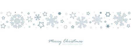 christmas card with snowflake border on white Vettoriali