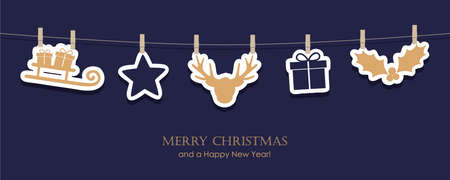 hanging christmas decoration sleight star deer gift berry