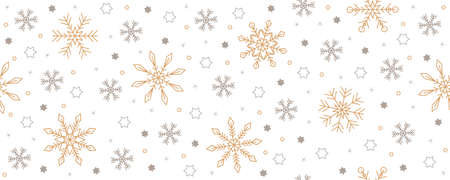 christmas seamless snowflake and star background on white Vettoriali