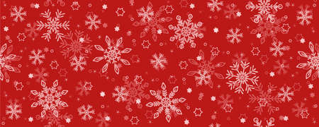 red christmas seamless star and snowflake background banner Vettoriali